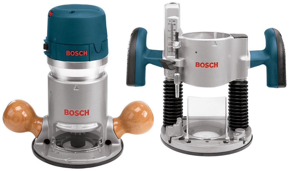 Bosch 1617EVSPK Wood Router Tool Combo Kit - 2.25 Horsepower Plunge Router