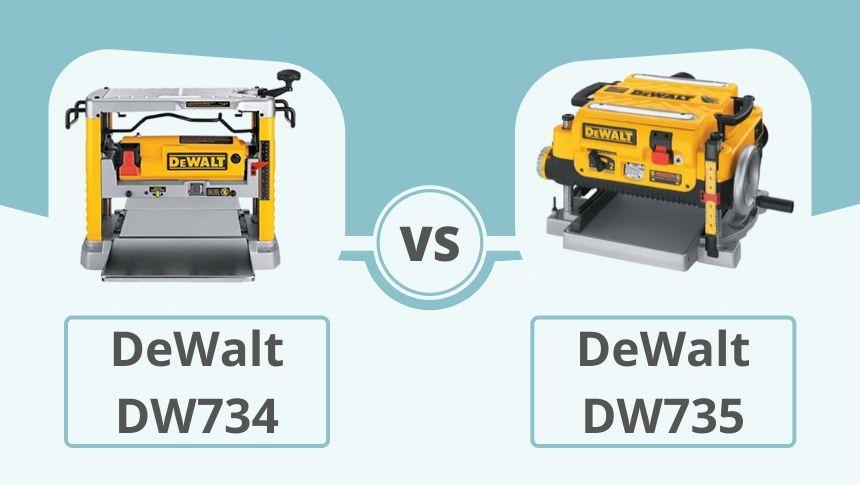 DeWalt DW734 vs DW735